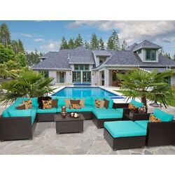 Miseno BELLE-13a-ARUBA Anabelle 13-Piece Outdoor Furniture Sets and Club Chairs