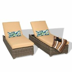 Miseno CAPECOD-2x-SESAME Nantucket 2-Piece Outdoor Chaise Lounge Chair Set