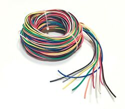 16 GAUGE AWG WIRE 10 COLORS 25 FT EA PRIMARY STRANDED COPPER POWER REMOTE CABLE