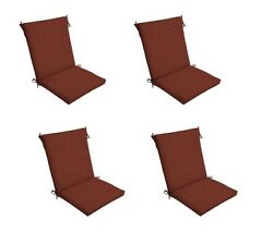 Red Chair Cushion Set of 4 Outdoor Patio Dining Replacement Cushions Seat Pads