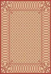 NEUTRAL OUTDOOR RUG LARGE 7X9 [6' 7