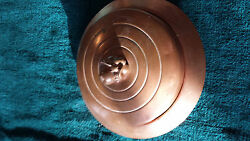 Vintage DECO copper candy dish Chase COPPER AND BRASS CO. three piece