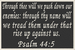PSALM 44:5 Iron-On Patch Christian Tactical Morale Military Emblem