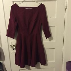 Glamorous burgundy dress Nordstrom Cocktail Dress size S $35.00
