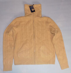 RALPH LAUREN GOLF TRAVELER CASHMERE BLEND BROWN TURTLE SWEATER ITALIAN YARN L