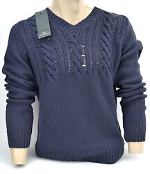 FRED PERRY MAN V-NECK SWEATER TITAN BLUE CODE 30372986