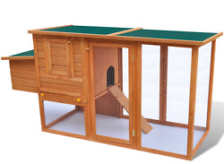 Chicken Coop Kits Runs Backyard Rabbit Hutch Cages Outdoor Hen House Large Wood