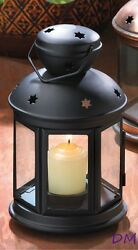 20 Matte Black Colonial Style Indoor or Out Candle Lantern Lamps Centerpieces