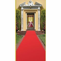 Award Night Party Red Carpet VIP Runner Rug Aisle Wedding Festive Indoor Outdoor