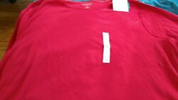 Women#x27;s red cotton long sleeve shirt size 3X new with tags $9.99