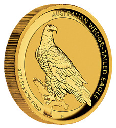 2017 AUSTRALIAN WEDGE-TAILED EAGLE 2oz GOLD HIGH RELIEF COIN
