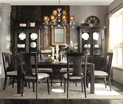 Farmhouse Dining Table Set for 6 Cabinet Buffet Rustic Room Decor for the Home