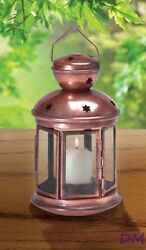 Lot of 10 Colonial Style Bronze Color Candle Lantern Use Indoors or Outdoors