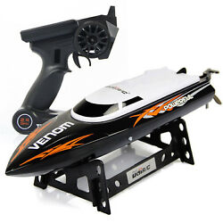 Udirc RC Boat 2.4GHz Remote Control High Speed RC Electric Boat Black $37.98