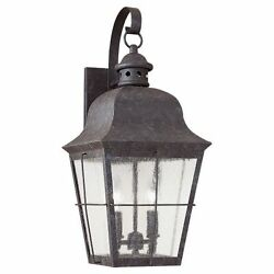 Sea Gull Lighting 8463 Oxidized Bronze Colonial Styling 2 Light Outdoor Lantern