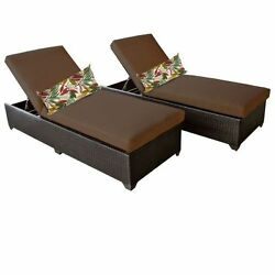 Miseno CLASSIC-2x-COCOA Traditions 2-Piece Outdoor Chaise Lounge Chair Set