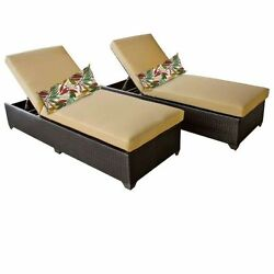 Miseno CLASSIC-2x-SESAME Traditions 2-Piece Outdoor Chaise Lounge Chair Set