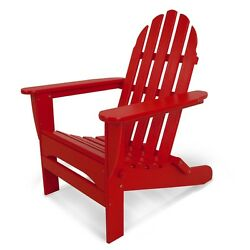 Adirondack Sunset Red Plastic Folding Patio Chair Home Living Garden Furniture