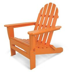 Orange Adirondack Tangerine Plastic Folding Patio Chair Home Garden Furniture
