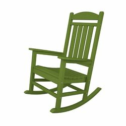 Lime Plastic Patio Rocking Chair Contemporary Slat Home Living Garden Furniture