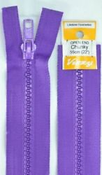 Vizzy Chunky Open End Zip 55cm Colour 109 PURPLE A Quality Brand Name Zipper