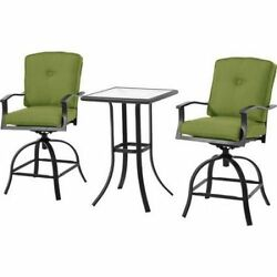 Patio Furniture Sets Bar Height Outdoor Bistro Table 2 Chairs Balcony Deck Set