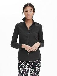 BANANA REPUBLIC 186550 RILEY TAILORED POPLIN BLOUSE SHIRT TOP NWT 00 0 2 4 6