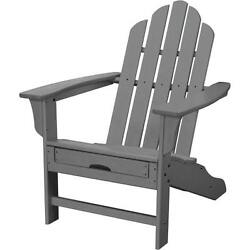 Hanover HVLNA15GY All-Weather 38-12 Inch Tall Polywood Outdoor Adirondack Chair