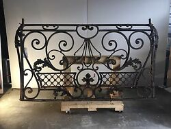 BLACKSMITH WROUGHT IRON VICTORIAN  BALCONY RAILINGS BALUSTRADE GATE HAND MADE