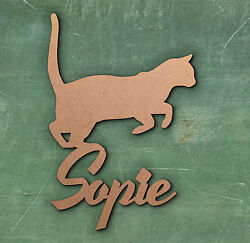 CAT Personal Sign Wooden Laser Cut MDF Craft Blanks Shapes