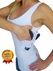 AC UNDERCOVER CCW TANK TOP Shirt Holster TACTICAL Concealed Carry Shirt REF 212 $34.99