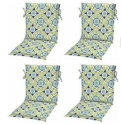 Green Blue Sling Patio Chair Cushions Set of 4 Outdoor Replacement Dining Pads