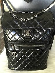 AUTH BNIB Chanel Large Glazed Calfskin Mountain Backpack Ruthenium Hdw SOLD OUT!