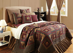 Millsboro 6PC Log Cabin Patchwork Quilted Bedding Set by VHC Brands - ALL SIZES