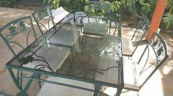Vintage Wrought Iron Patio Dining Furniture