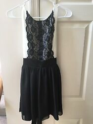 Formal Girls Juniors Trixxi black and white dress size 3 Great Condition $7.00