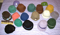 Wholesale Boutique Inventory Lot - 19 Women's Wool Felted Hats - High Profit