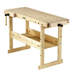 Garden Garage Workshop Wood Work Top Bench Dogs Table Tool Shop Workbench Vises