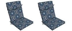 Outdoor Patio Dining Cushion Set of 2 Replacement Back Yard Seat Chair Pad Pads