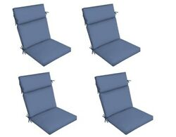 Replacement Patio Cushion Set of 4 Light Blue Outdoor Yard Dining Seat Chair Pad