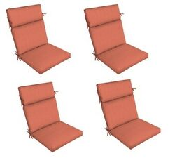 Orange Replacement Patio Cushion Set of 4 Outdoor Dining Seat Chair Cushions