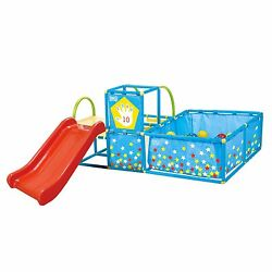 3 In 1 Active Play Gym Set Kids Toddlers Child Portable Slide Ball Pit Playhouse