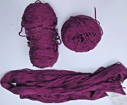 FOUR + SKEINS CASCADE YARNS ULTRAPIMA FINE YARN TWO COLORS  - #3704 AND #3729