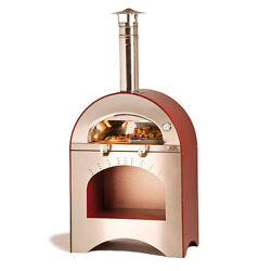 Fully Insulated Forninox Brick Hearth Outdoor Bread Baking Pizza Oven Wood Fired