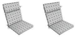 Grey Replacement Patio Chair Cushion Set of 2 Outdoor Furniture Dining Pads