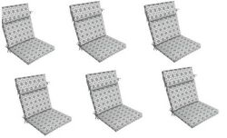 Grey Replacement Patio Chair Cushion Set of 6 Outdoor Furniture Dining Pads