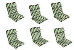 Fruit Replacement Patio Chair Cushion Set of 6 Outdoor Furniture Dining Pads