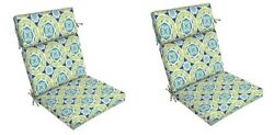 Green Replacement Patio Chair Cushion Set of 2 Outdoor Furniture Dining Pads