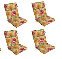 Floral Replacement Patio Chair Cushion Set of 4 Outdoor Furniture Dining Pads