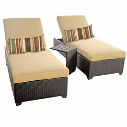 Miseno CLASSIC-2x-ST-SESAME Traditions 3-Piece Outdoor Chaise Lounge Chair Set